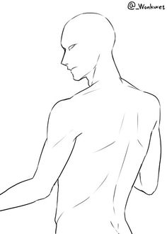 """""""Like my back"""" pose Drawing Poses Male, Sketch Poses, Guy Drawing, Back Drawing, Drawing Male Anatomy, Manga Drawing, Male Pose Reference, Body Reference Drawing, Drawing Reference Poses"""