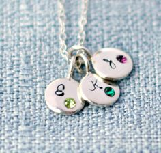 Initial Necklace - Birthstone Necklace - Personalized Necklace