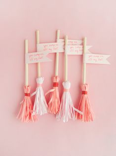 You Sweep Me Off My Feet Valentines | Handmade Charlotte Valentines Puns, Valentine Treats, Broom Handle, Valentine's Day Diy, Easy Diy, Crafts For Kids, Charlotte, Place Card Holders, Blog