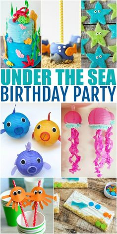How to Throw the Ultimate Under the Sea Birthday Party - Frugal Mom Eh! How to Throw the Ultimate Under the Sea Birthday Party to please any birthday girl or boy for an amazing Under the Sea themed party! Birthday Themes For Boys, 1st Boy Birthday, 3rd Birthday Parties, Birthday Crafts, Birthday Ideas, Paris Birthday, Women Birthday, Birthday Recipes, Birthday Nails