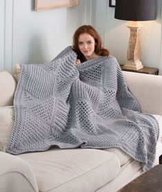LW4132 Checkerboard Textures Throw free crochet blanket pattern