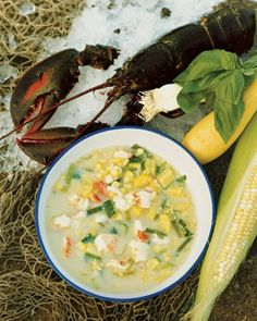 "See the ""Maine Lobster and Corn Chowder"" in our  gallery"
