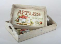Country and Vintage Decorative items Tole Painting, Painting On Wood, Collage, Decorative Boxes, Apple, Trays, Diana, Gifts, Craft