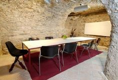 The Hub is the HQ of a shared office space in Rovereto Co Working, Working Area, Recycled Wood Furniture, Shared Office, Exposed Brick Walls, Wooden Ceilings, Historical Architecture, Rustic Feel, Old And New