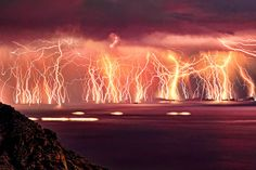Severe thunderstorm on Ikaria island. This was featured in National Geographic as one of the best photos ever taken.