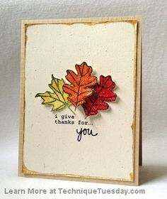 Leaves Card-Technique Tuesday