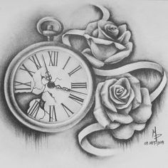 Pocketwatch and Roses by mmpninja on DeviantArt