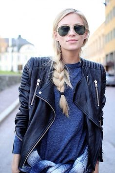 How To Wear Leather Jacket Casual and Chic For Women Ideas - Nona Gaya Look Fashion, Runway Fashion, Winter Fashion, Fashion Trends, Womens Fashion, Mode Outfits, Casual Outfits, Casual Wear, Streetwear