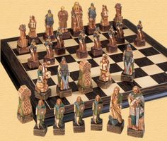 Celtic Chess Pieces.