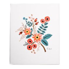 Illustrated Art Print created from an original gouache painting by Anna Bond.  Archival full-colour  Comes with protective sleeve.  204 × 254mm