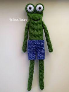 By Jenni Designs: Free Crochet Amigurumi Pattern: The Skinny Frog