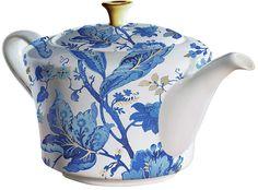 Cypress Home Blue Floral Bone China Ceramic Teapot Ceramic Teapots, Porcelain Ceramics, China Porcelain, Kaffe, Tea Kettles, Blue And White China, Tea Service, How To Make Tea, Chocolate Pots