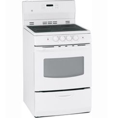 """JCAP760WMWW by General Electric Canada in Winnipeg, MB - GE 24"""" Free Standing Electric Self Clean Range Shop JS Furniture Gallery for all your appliance needs.  1725 Ellice Avnue, Winnipeg, http://furnitureandmore.ca"""