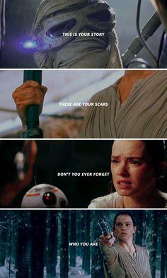 Rey: for when it gets heavy, when it gets hard #starwars