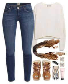 """09 January, 2016"" by jamilah-rochon ❤ liked on Polyvore featuring UGG Australia, MANGO, Casetify, Anne Klein, Sydney Evan, Anita Ko and Victoria's Secret"