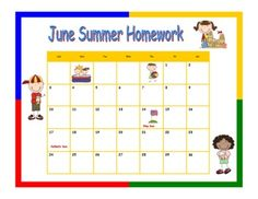 Free! three blank calendars for June, July, and August