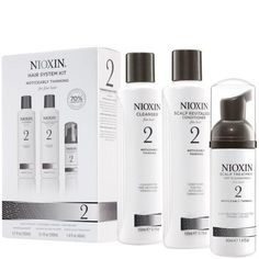 #NIOXIN Hair System Kit 2 for Noticeably Thinning Natural Hair (3 Products)  #Nioxinsystem