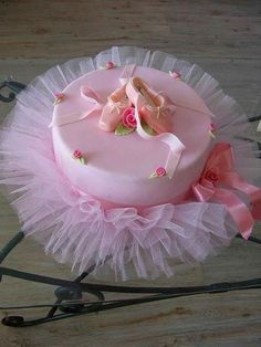 Ballerina cake inspiration. And now I know what I bought those pink tulle remnants for....