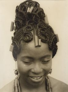 J.D. 'Okhai Ojeikere, Nigerian, 1930–2014 Untitled, from the series Hairstyles, ca. 1970 Gelatin silver print 27 x 20 cm