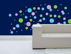 Polka Dot Wall Decals- pink, teal, lime