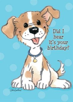 Postcards Suzys Zoo Note From The Animal Drawings, Cute Drawings, Dog Pictures, Cute Pictures, Gata Marie, Happy Birthday Greetings, Birthday Wishes, Birthday Images, Whimsical Art