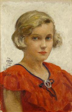 Portrait of the Artist's Daughter, Inge - Paul Gustave Fischer