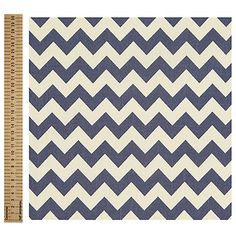 Buy Navy Linen Look Chevron Stripe Cotton Fabric from our Dress Fabrics & Fat Quarters range at John Lewis & Partners. Lined Curtains, Curtain Lining, Fabric Online, Dressmaking, Chevron, Cotton Fabric, Navy, Living Room, Shop