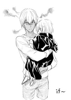 I actually think he really may feel protective over Haibara should he know who she really is, considering his attachment to the Miyanos and Akemi. Plus, he may also be a bit jealous of Akai/Okiya because he gets to take care of her Anime Guys, Manga Anime, Amuro Tooru, Kaito Kid, Detektif Conan, Magic Kaito, Case Closed, Kokoro, Haikyuu