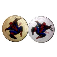 HOTSALE Super hero 50 years of SpiderMan Collectable gift silver and gold plated replica coin