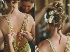 Wedding dress made from fresh Jasmine flowers - Bali wedding photographed by Jonas Peterson