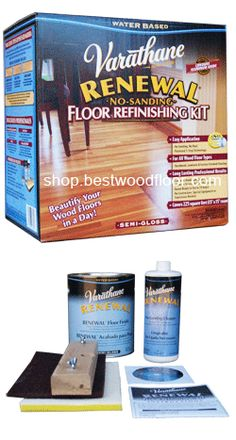 Varathane Renewal Wood Floor Refinishing Kit   Sandless | Dustless Restore