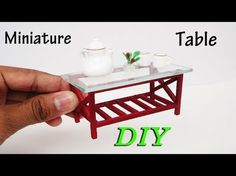 How To Make Miniature Realistic simple Table - Dollhouse - YouTube