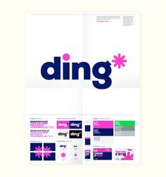 Poster corporativo de Ding, por Dixon Baxi