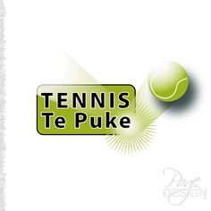 Logo design for Tennis Te Puke, Te Puke, NZ Page Design, Tennis, Graphic Design, Logos, Logo, Visual Communication