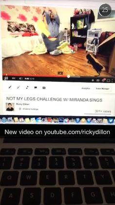 Miranda Sings on Ricky Dillon's snap Snapchat ID: ricky.dillon