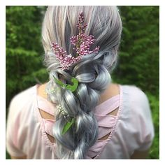 "Braids/updos on Instagram: ""🌿 twisted double pullthroughbraid •  The double pullthroughbraid is inspired by amazing @hairicome_ 😍  same braid, i just twisted every…"""