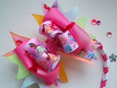 Pink Princess Hair Bow and Head Band Gift set by ransomletterhandmade, Katy Texas$16.50