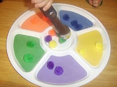 color sorting tray w/ tongs :)