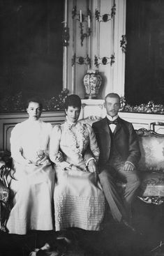 Maria Feodorovna with her children Grand Duchess Olga Alexandrovna and Grand Duke Michael Alexandrovich Maria Feodorovna, Grand Duchess Olga, Frederique, Rasputin, Grand Duke, Imperial Russia, Almost Always, Social Issues, Views Album