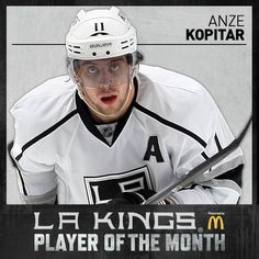 I just voted Anze Kopitar for January's McDonald's Player of the Month. Go here and cast your vote. http://lakings.com/playerofthemonth