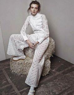 Eva Klimkova by Marianna Sanvito for Elle Russia April 2015