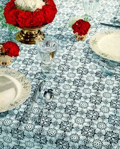 Carnation Tablecloth Pattern