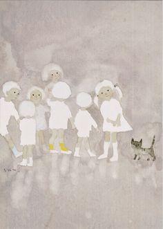 Chihiro_Iwasaki watercolour. Another beautiful simple piece of work.