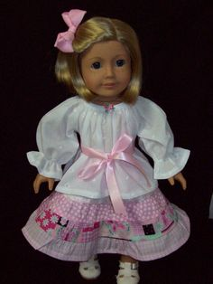 American Girl Doll  18 inch doll peasant blouse and by ASewSewShop, $14.99