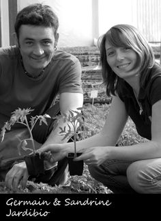 Sandrine Pain & Germain Goyau : les jeunes pousses de Jardibio ! Production de plants potagers & aromatiques bio pour les commercialiser en direct et via des magasins spécialisés.