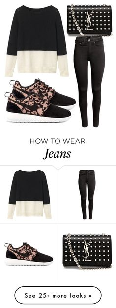 """""""Untitled #2742"""" by evalentina92 on Polyvore featuring Toast, Yves Saint Laurent, H&M and NIKE"""