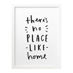 8x10 There's No Place Like Home Print  typographic