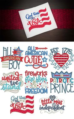 New on the site! 8 adorable patriotic designs perfect for Independence Day! 4 sizes included: 4x4, 5x7, 6x10 and 8x8. Available for instant download at designsbyjuju.com
