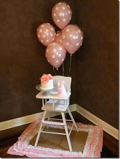 Cutest first birthday high chair set up ever!!!!