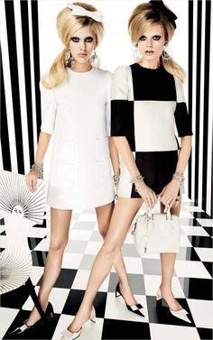 Magazine: Vogue Japan Issue: March 2013 Editorial: Graphics Gone Wild Models: Hanne Gaby Odiele, Juliana Schurig